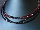 Wicca Fetish black & blood red glass beaded collar choker necklace emo punk goth