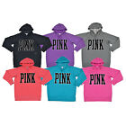 Victoria's Secret Pink Hoodie Graphic Sweatshirt Pullover Fleece Victorias W198+