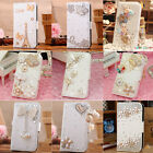 Diamond Heart Bow Crown Snow Leather Case Cover For Samsung Galaxy Note 4 N9100