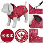 Sila Winter Dog Coat Red | All Sizes - Winter Quilted Hooded Jacket For Dogs