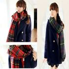 Winter Warm Tartan Cashmere Plaid Check Pashmina Shawl Scarf Neck Wrap Stole #LA