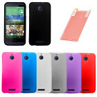 FOR HTC Desire 510 Candy TPU Cover Gel Rubber Case w/ Free Screen Protector