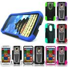 For Motorola Moto X2 2nd Generation Hybrid Stand Multi Color Hard Cover Case