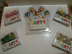 PARTY Novelty Candles - Princess Cup cake Dinosaurs Pirates Fish + FREE RIBBON!