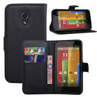 8Colors Wallet Leather Case Cover Pouch + Film For Motorola Moto G 2nd Gen #i