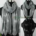 Simple Cute Animals Owl Print Long Scarf/Infinity 2-Loop Casual Soft Voile Scarf