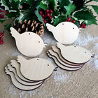 Wooden ROBIN Hanging Christmas Tree Blank Craft Decorations Gift Tag Shapes