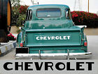 48-54 Step Side Chevy Pickup Truck Tailgate Letters fits 37 to 47 beds as well