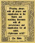 A4 Parchment Poster Bible Quote Quotation - PRAYING - Greetings Card Available