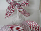 Glittery Candy Cane Red & White Christmas Cake - Luxury Wire Edge Edged Ribbon