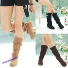 Stylish Autumn Winter Womens Boots Lace Cuff Increased Internal Woolen Shoes
