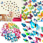 12pcs 3D Butterfly Art Decal Home Decor PVC Butterflies Wall Stickers Stylish