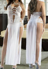 Sexy Babydoll Chemise White Wedding Bridal Long Evening Gowns Dress Lingerie Set