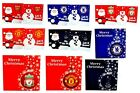 OFFICIAL FOOTBALL TEAM XMAS CHRISTMAS GREETING CARDS 10PK SANTA SNOWMAN BAUBLES