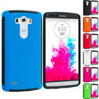 For LG G3 Hybrid Shockproof Armor Case Cover with Built In Screen Protector