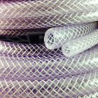"9.5mm (3/8"") CLEAR PVC BRAIDED HOSE,FOOD GRADE OIL WATER GASES, REINFORCED TUBE"