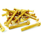M3 M4 M5 M6 M8 M10, SOLID BRASS FULLY THREADED SET SCREW HEXAGON HEX BOLT DIN933