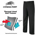 THERMAL GOLF TROUSERS WINTER GOLF TROUSERS CYPRESS POINT LINED TROUSERS BLACK