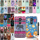 For LG Optimus G2 D800 D801 D802 LS980 Art Design TPU SILICONE Case Cover + Pen