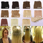 "Loop Micro Ring Hair Extensions 100% Real Human Hair 18"" 20"" 22"""