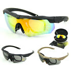 Riding Bicycle Cycling UV400 Outdoor Sports Sunglasses Eyewear Goggle 4 Lens