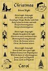 A4 Parchment Poster Christmas Silent Night - Greeting Card Option Available