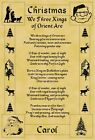 A4 Parchment Poster Christmas We Three Kings  - Greeting Card Option Available