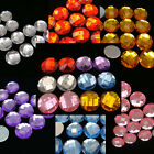 50-60 Acrylic 10mm Round Global Flat Back Rhinestone Pink blue Clear Purple Gold