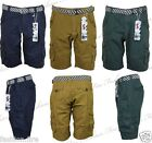 "Mens Boys Branded Tender Age Cargo Combat Mens Shorts With Belt BNWT 30"" To 38"""