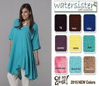 OH MY GAUZE Cotton  ST.PETE  Tunic Asymmetric Top 1(M/L/XL)  2(1X)  2015 COLORS