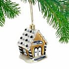 NFL Football Team GINGERBREAD HOUSE Blown Glass Holiday Christmas Tree Ornament