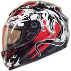 LEOPARD LEO-819 Full Face Scooter Motorcycle Motorbike Helmet Black Dragon