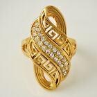 ART Womens Gold Filled Clear Cubic Zirconia Rings SZ 6-10# D3694-D3698