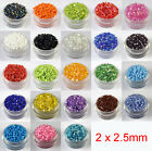 22g 2x2.5mm Czech Glass Seed Spacer beads Jewelry Making DIY Pick More Color