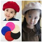 New Fashion Children Soft Wool Warm Girls Felt Beret Beanie Hat Cap Tam Red LA