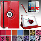 For Apple iPad MINI All Models LUXURY PU Leather Case Cover Stand + Accessories