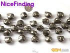 "Skeleton Skull Silver Pyrite Natural Stone Beads Jewelry Making 15"" 3 Size Pick"