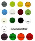 Precut System 96 COE GLASS CIRCLES 1/2 Inch Set of Six Pieces 17 Color Choices