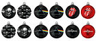 CHRISTMAS LUXURY GLASS BAUBLE TREE ORNAMENTS ROCK BAND THEME