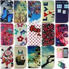 For iPhone 4S 5S 5C PU Leather Flip Stand Wallet Cover Case Butterfly Love Flowe