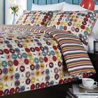 Retro Duvet Cover, Sithland Print, Luxury 180 Thread Count, Single Double King
