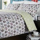 Retro Duvet Cover, Tweet Print, Luxury 180 Thread Count, Single Double King