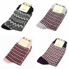 Women 4 Colors Woolen Warm Check Socks Sports Ankle Socks free size wool blend