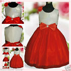 White Reds Communion Chirstmas Party Flower Girls Dresses SIZE 2,3,4,5,6,7,8,10Y