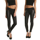 Hot Ladies Black PU leather Leggings Jeggings  Denim Look Skinny/Stretchy Pants