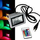 10W 20W 30W 50W RGB LED Flood light Outdoor Spotlights Cord & Plug / Wire Remote