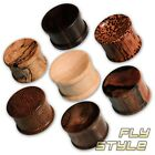 4-50mm Holz Flesh Plug palm wood ohr tube piercing organic horn braun leo tunnel