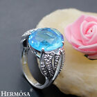 Only $9.99 Swiss London Topaz Sterling 925 Silver Rings Size 7 8