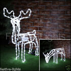ANIMATED WHITE LED CHRISTMAS MOVING REINDEER OUTDOOR SILHOUETTE FIGURE LIGHT