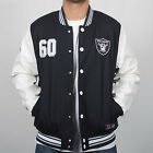 Majestic Athletic Unisex Senger NFL Oakland Raiders Black Logo Letterman Jacket